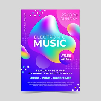 Abstract music parte poster template