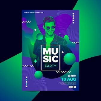 Абстрактный музыкальный плакат с изображением