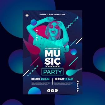 Абстрактный музыкальный плакат с фото