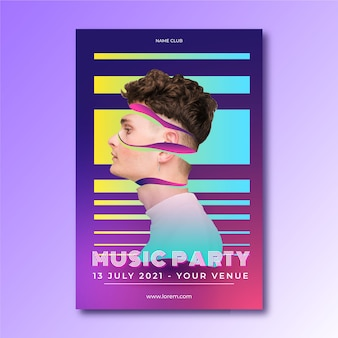 Abstract music party poster