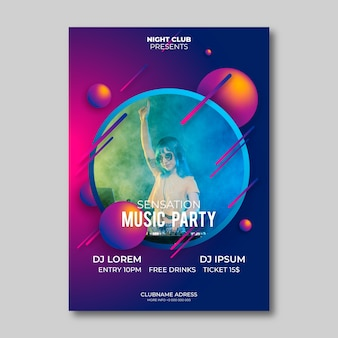 Abstract music poster style with photo