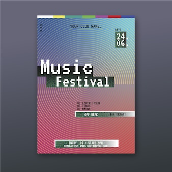 Abstract music poster template theme