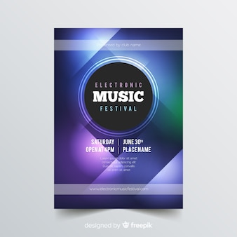 Шаблон плаката абстрактной музыки