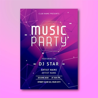 Abstract music poster template