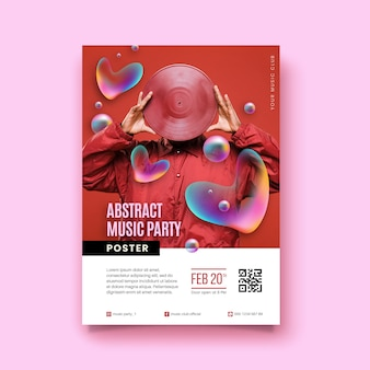 Abstract music poster with photo