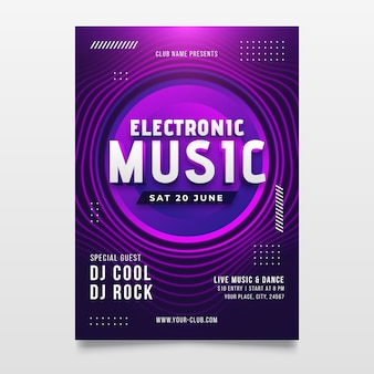 Abstract music poster with round shapes