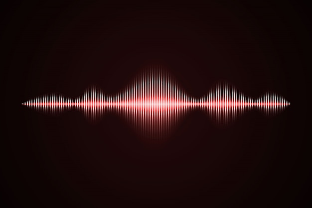 Abstract music sound wave,