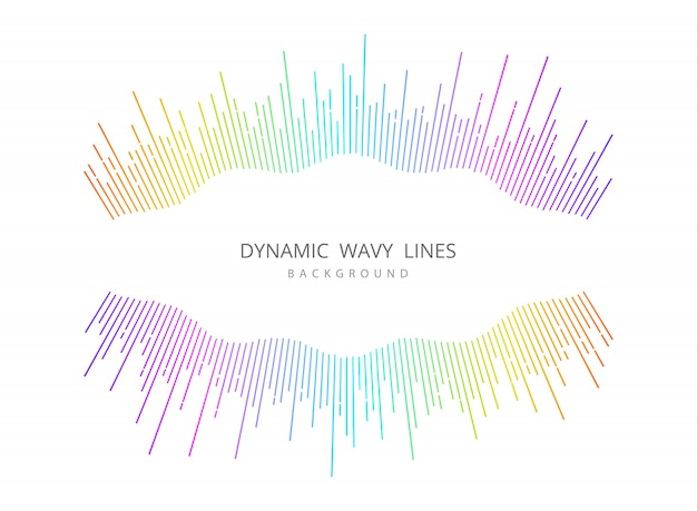 Abstract music wavy line colorful cover design background