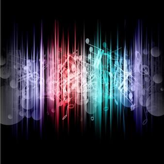 抽象音符の背景
