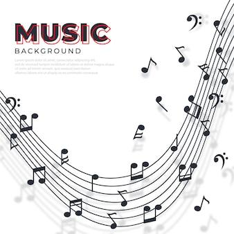 Абстрактные музыкальные ноты баннер