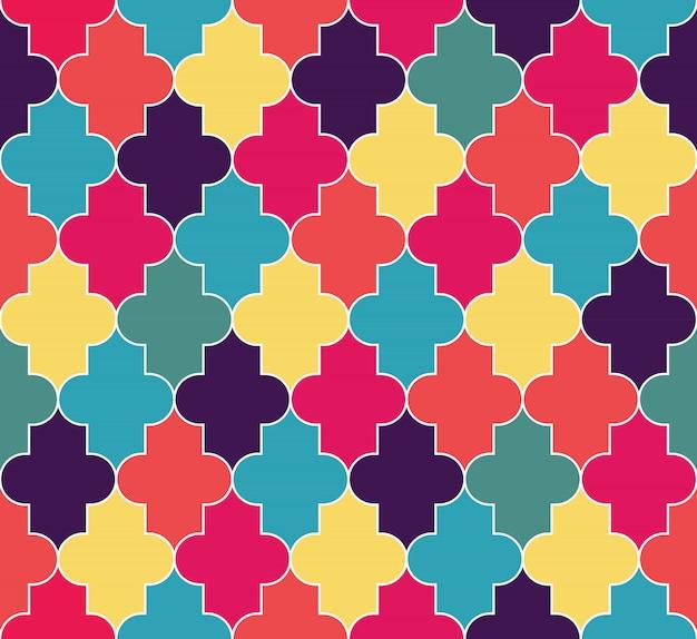 抽象的なイスラム教徒のシームレスなパターン背景。図