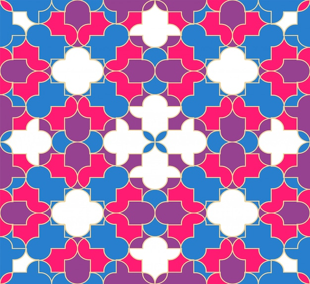 Abstract muslim seamless pattern background.
