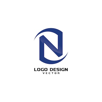 Abstract n symbol business company logo template