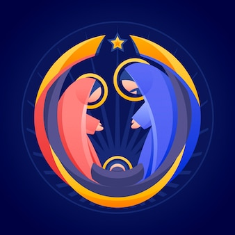 Abstract nativity scene concept