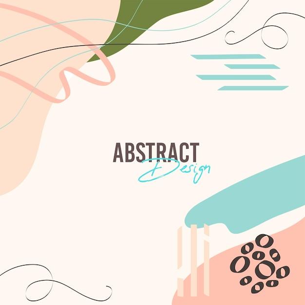 Абстрактный естественный фон в стиле мемфис с цветами