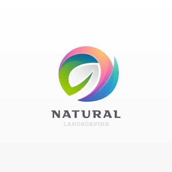 Abstract natural leaf logo