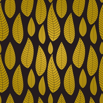 Abstract natural seamless background with leaves.