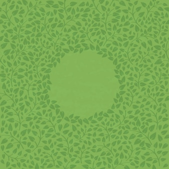 Abstract nature green leaf vintage vector background