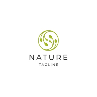 추상 자연 나무 잎 로고 아이콘 디자인 서식 파일 평면 벡터
