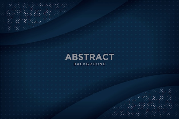 Abstract navy blue 3d backgrounds with overlapping layers.