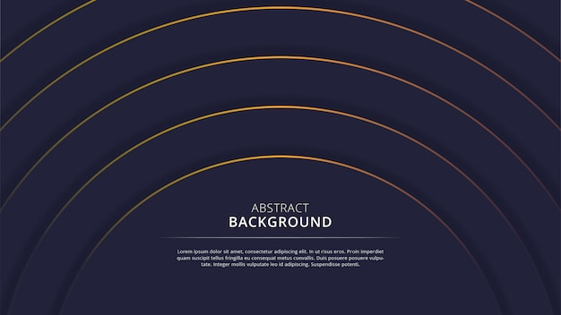 Abstract navy circle background with orange lines