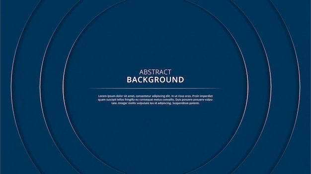 Abstract navy circle stylish papercut background design