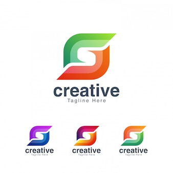 Abstract negative space letterlogo   template