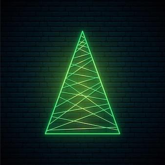 抽象的なネオンのクリスマスツリー