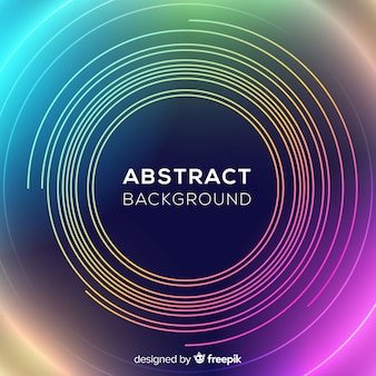 Abstract neon circles background