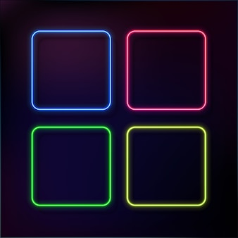 Abstract neon frame set