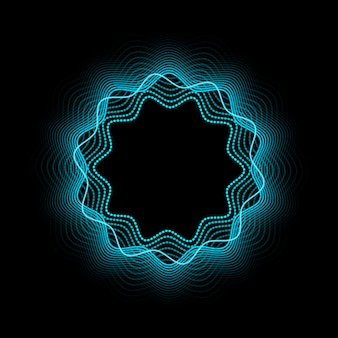 Abstract neon frame. shining and glowing neon effect.