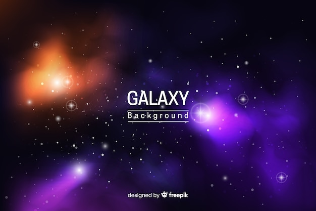 Abstract neon galaxy background