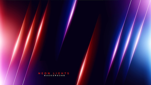 Abstract neon light gaming background