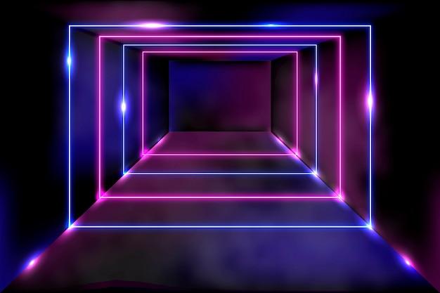 抽象ネオンライトの背景概念