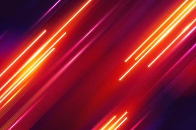 Abstract neon lights background style