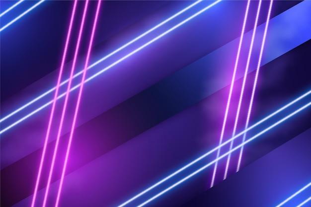 Фон абстрактный неоновые огни