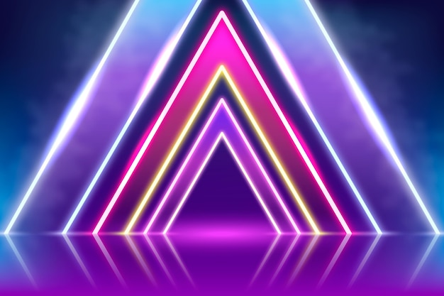 Abstract neon lights background Free Vector