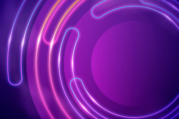 Abstract neon lights wallpaper design