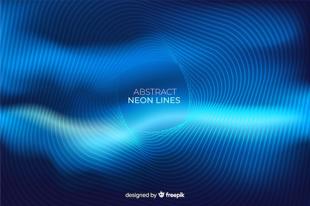 Abstract neon lines background