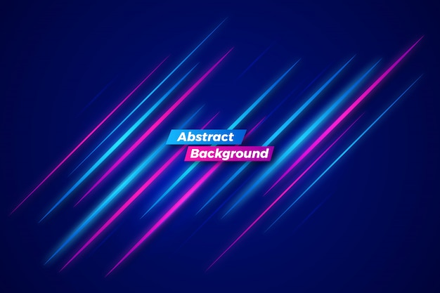 Abstract neon motion background template