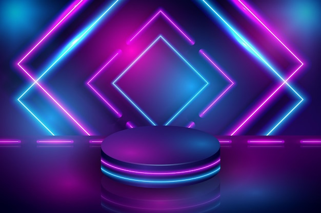 Abstract neon squares background design