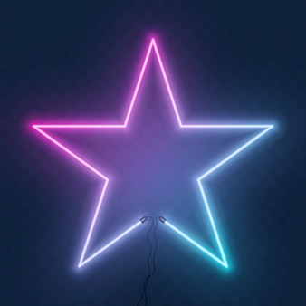 Abstract neon star