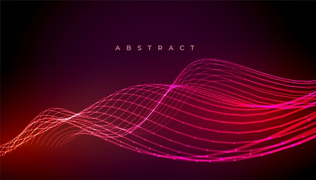 Abstract neon stylish wave lines background design