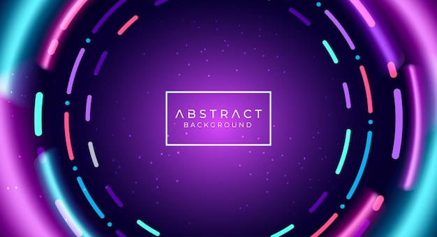 Abstract neon tunnel background