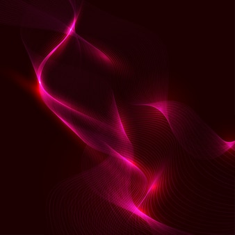 Abstract neon wave element for design.