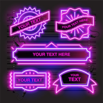 Abstract neon with pink and purple combination.