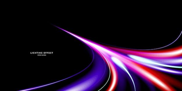 Абстрактные неоновые волны, изолированные на черном