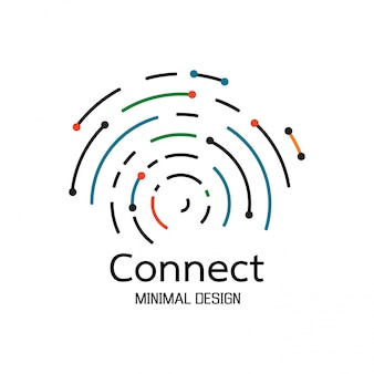 Abstract network connection. icon logo design
