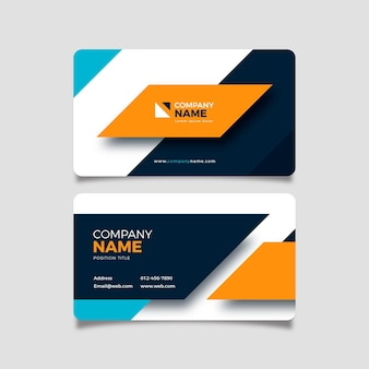 Abstract neumorph business card template