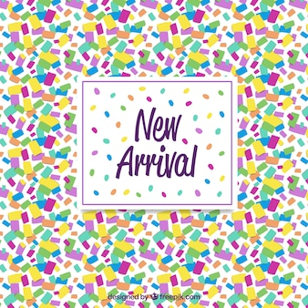 Abstract new arrival background in confetti style
